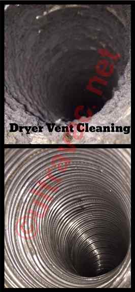 Dryer Vent Cleaning is EXTREMELY important as dryer lint is very flammable.  A standard dryer vent is only a $25 additional cost to our duct cleaning special!
