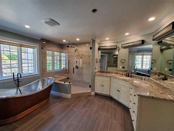 Frameless Shower and Mirrors