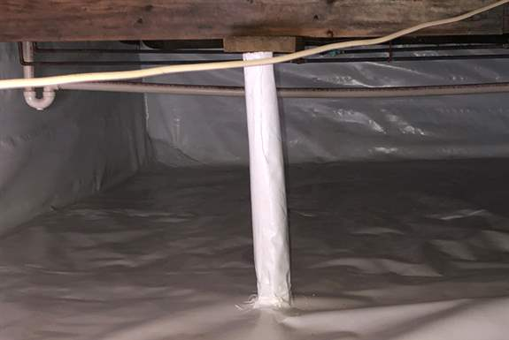 Crawl Space Solutions<br /><br />We can fix your wet crawlspace with encapsulation, sump pump, and dehumidification solutions as we as addressing structural issues.