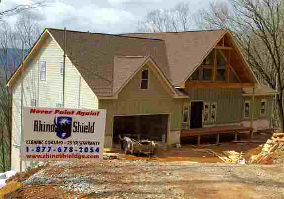 New construction and existing homes can be done. It goes on Cement board, vinyl, masonite, lp and all wood types.