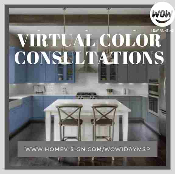 Let WOW1DAY PAINTING MSP be your one stop shop for your color and painting experience! Avoid making the costly mistake of painting with a color that doesn't look good with your floors, match your countertops, backspace, or décor. Not only will you know th