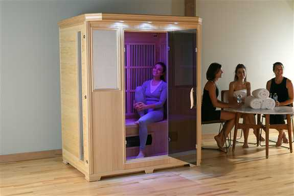 Good Health Saunas' 3 Person Infrared Sauna offers ample space for a single person, a comfortable design for two people, or the ideal dimensions for three individuals. Our saunas are designed to be the safest and easiest to assemble. GSE-3<br /><br /><br