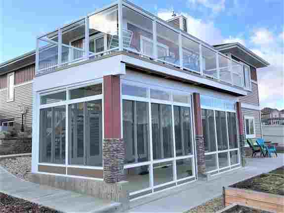 """3-season OR 4-season style Sunroom """"Walls only"""".  Sunroom walls under a second floor deck OR under an existing roof area."""