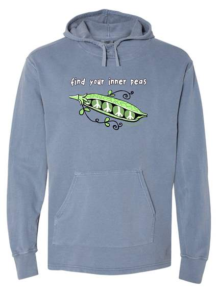 Find Your Inner Peas<br /><br />!00% Cotton French Terry Beach Hoodie