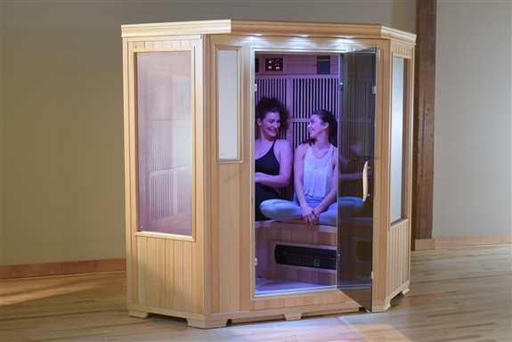 Good Health Saunas' 3 Person Infrared Corner Sauna provides ample space and a comfortable design for up to three adults, and the corner layout can easily fit in virtually any location. Our saunas are engineered to be the safest anywhere. GSE-3C<br />