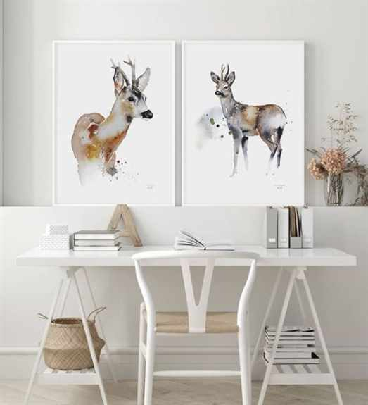 Ester Visual watercolor prints. Many different animals and sizes.