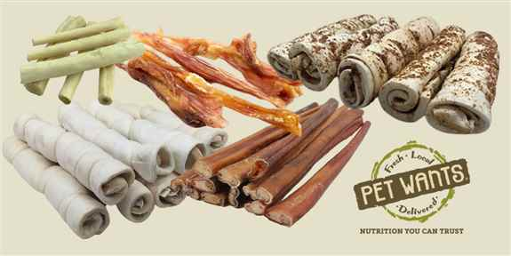We offer tons of options for natural chews to keep your pup busy and happy.
