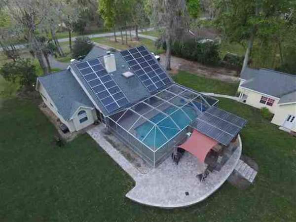 This is a solar pergola that we completed for this family.