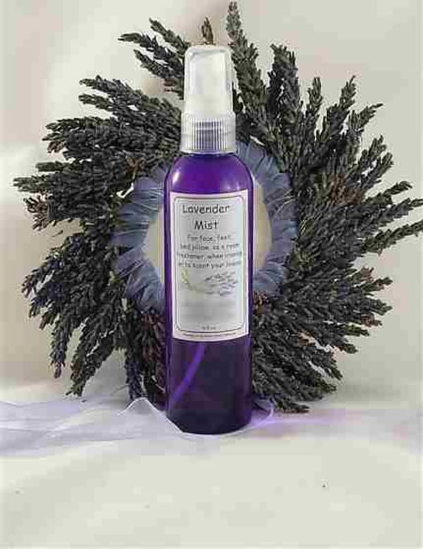 A refreshing fine mist of delicate fragrance for your body, face, feet or mist it onto your bed pillow for sweet dreams. Use it as a room freshener, mist your ironing or scent you linens. Chill it in the refrigerator for a special treat to use on a hot