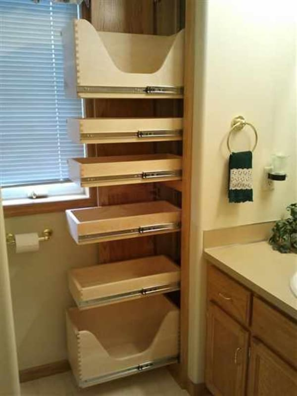 Rollouts work in any room of your home.  Even the bathroom!