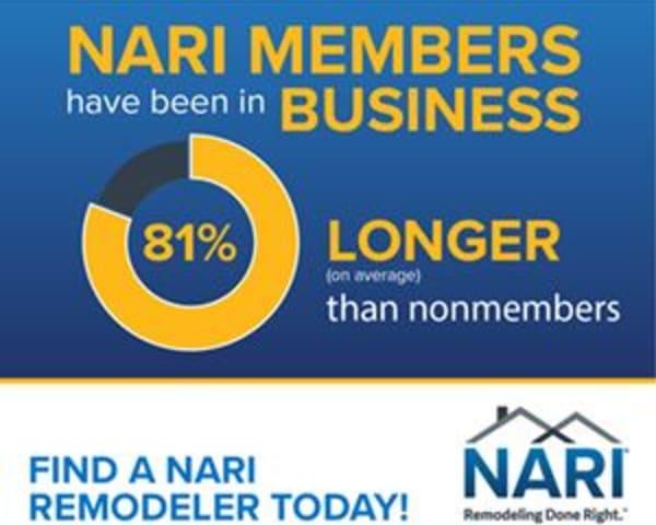 Rely on excellence, knowledge, integrity, and quality customer service - NARI contractors, remodeling done right