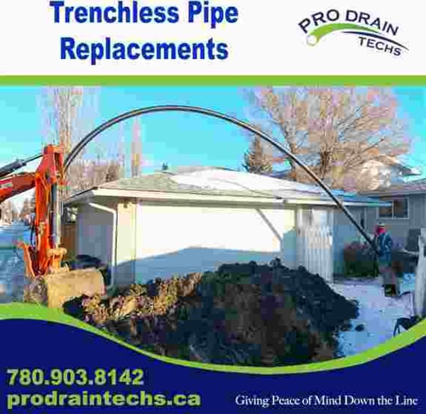 Burst Pipe Replacement - Pull a new HDPE pipe through the old. Using 2 pits we can replace the sewer without trenching the yard.