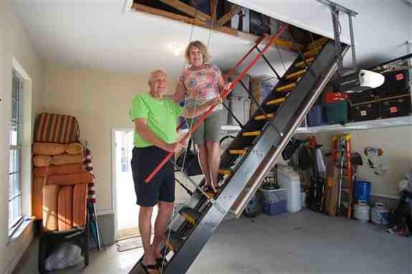 Satisfied Customers in Fernandina!  Majic Stairs doing their job...