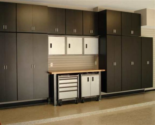 Our beautiful Simply Storage cabinets with Gladiator Pro Series cabinets