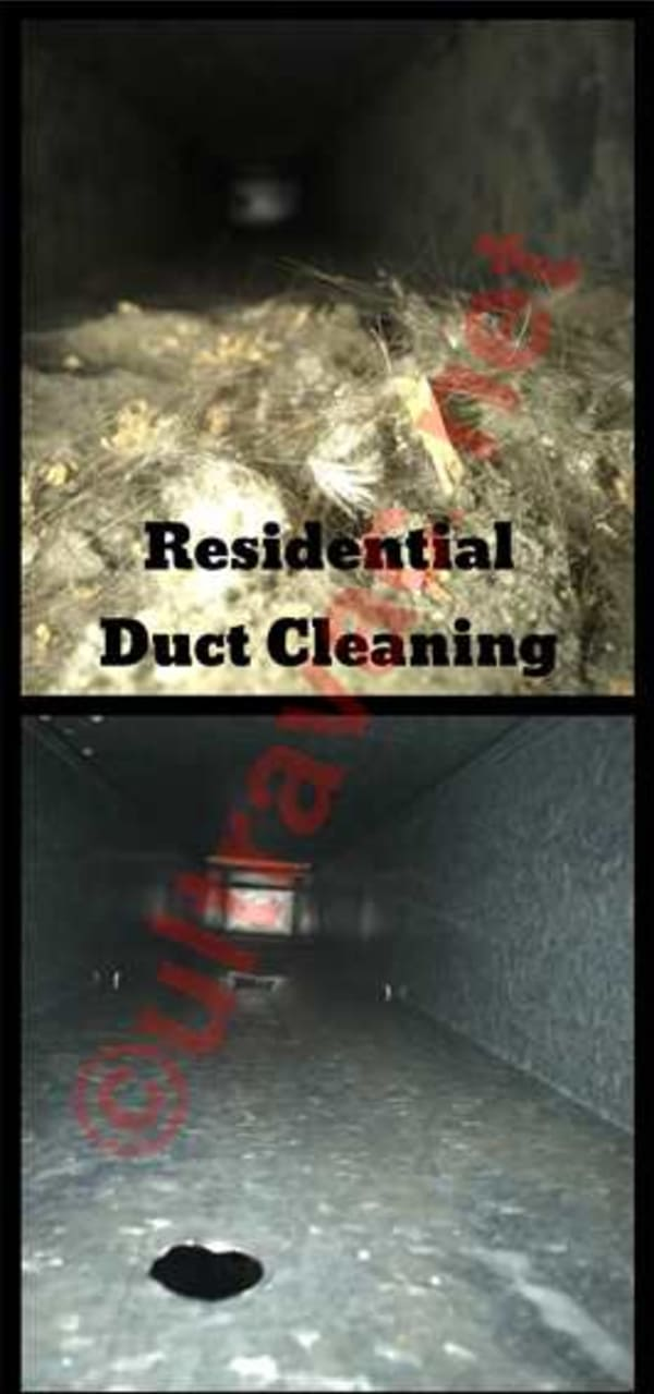 Ultra Vac offers the most thorough duct cleaning in the industry.  We clean your home's ENTIRE duct system for one unlimited price!  Using the most powerful equipment in the industry, we connect an industrial vacuum to the main ducting of your system clos