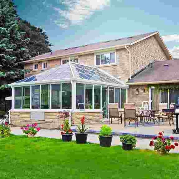 Georgian Conservatory, 4-Season style Sunroom. The ultimate in outdoor year round living.