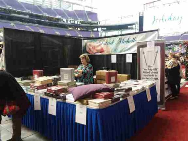 We were so lucky to be asked to participate in the Marketplace Events Show at the Vikings Stadium! It was awesome!