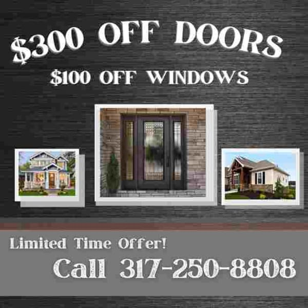 Window and door replacement with our biggest deals yet! Exclusive to the Indianapolis Home Show's Virtual Event!