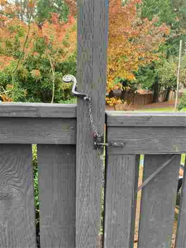 Easy press of The Side Post Lever to open the gate rather than having to look for, find and reach over to undo the gate latch.