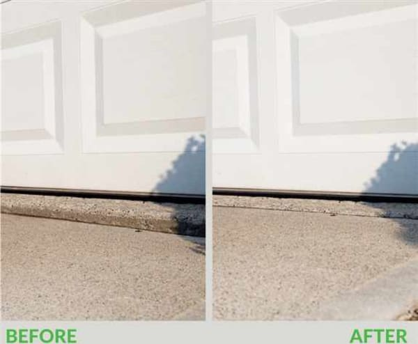"""GARAGE APRONS<br />Tired of that """"bump"""" into your garage?  We fix sunken concrete garage aprons."""