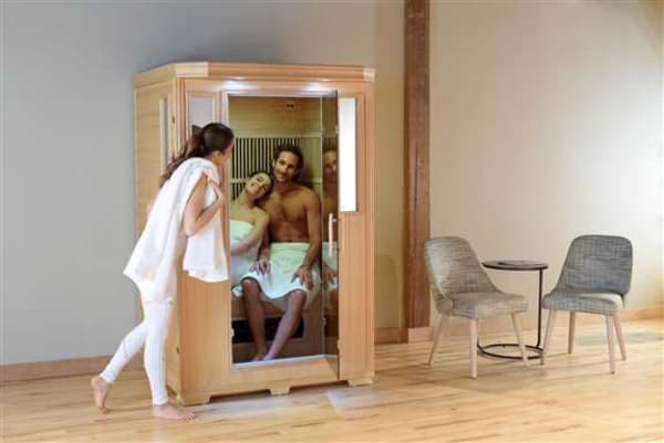 Good Health Saunas' 2 Person Infrared Sauna provides plenty of space and a relaxing environment for two people. GSE-2 <br />