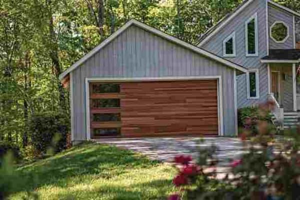 Beautiful modern CHI door in Accent woodtone color!