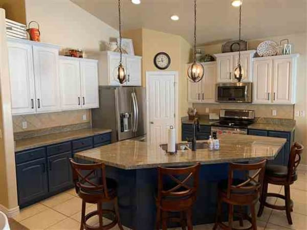 Professional Kitchen Cabinet Painting - Two colors in South Jordan
