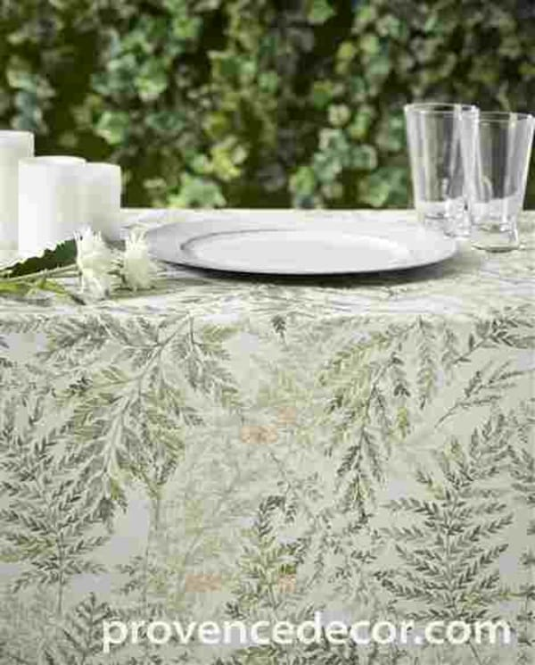 Our gorgeous and unique ZEN GARDEN tablecloth will transform your table and bright up your room with its elegant trendy Fern Leaves Design. <br />They are perfect for everyday use indoors or outdoors.<br />They will look amazing on your kitchen, dining ro