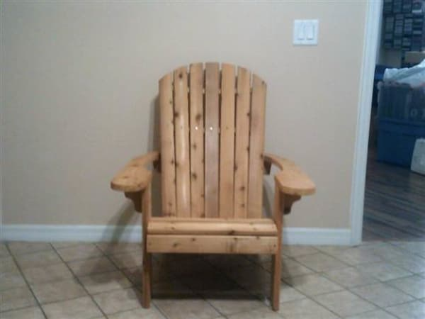Original Adirondack Chair. Made of Western Cedar
