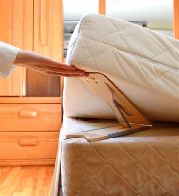 The BedMaker holds the mattress up while you change the sheets. No more battles with a mattress!