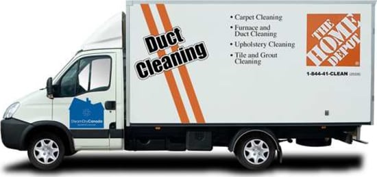 Our truck mounted duct cleaning vehicule