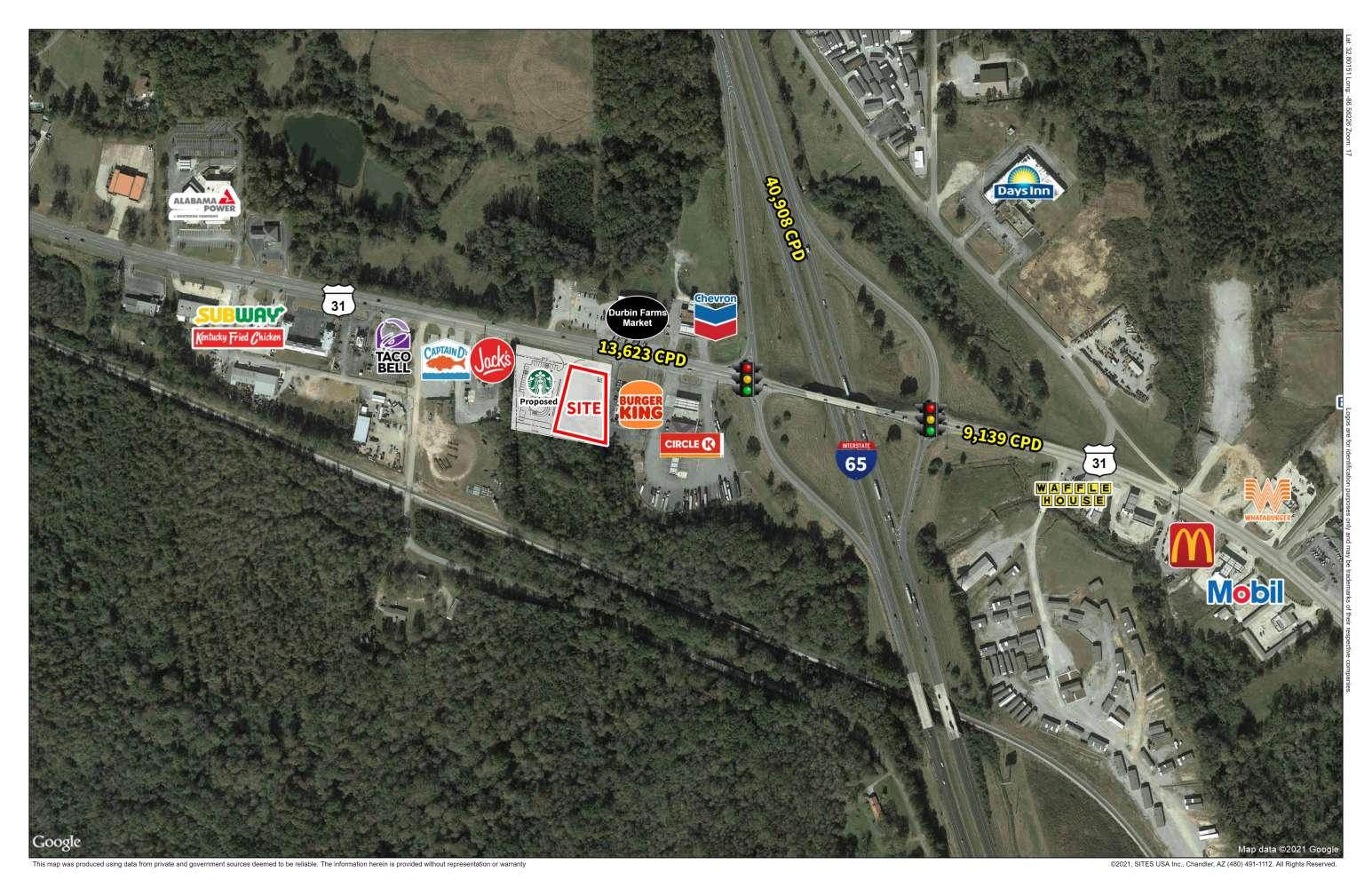 Land Clanton, 35045 - Highway 31 & I-65