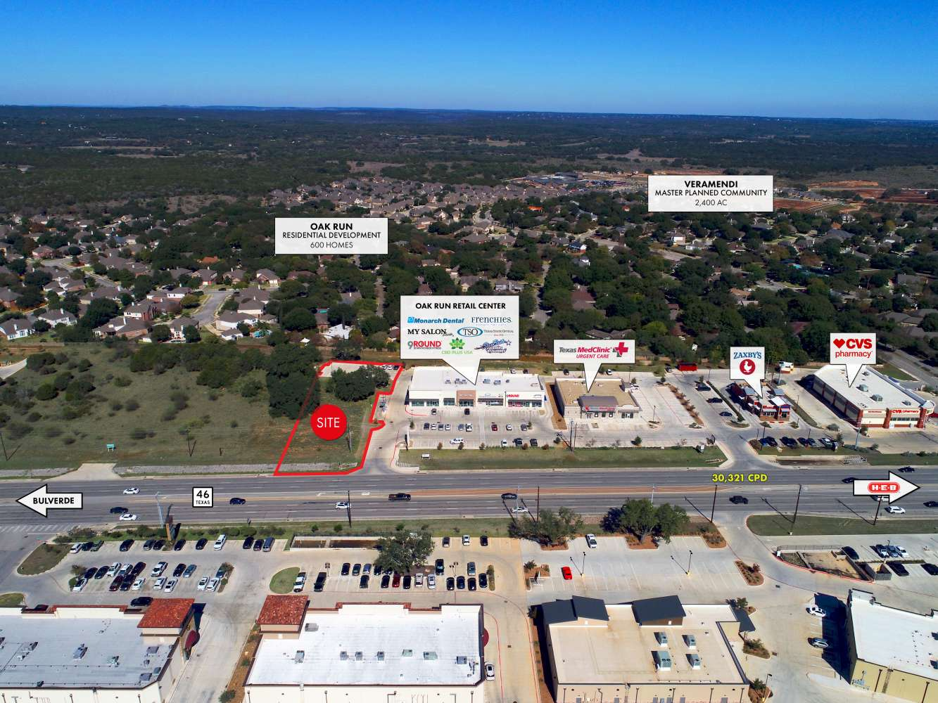 Land New braunfels, 78130 - Oak Run Center  - Land for lease
