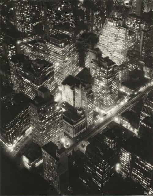 New York at Night Abbott, Berenice  (American, 1898-1991)