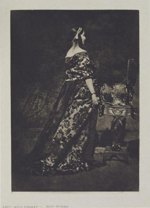 Lady with Casket – Miss Rigby Hill, David Octavious  (Scottish, 1802-1870)Adamson, Robert  (Scottish, 1821-1848)