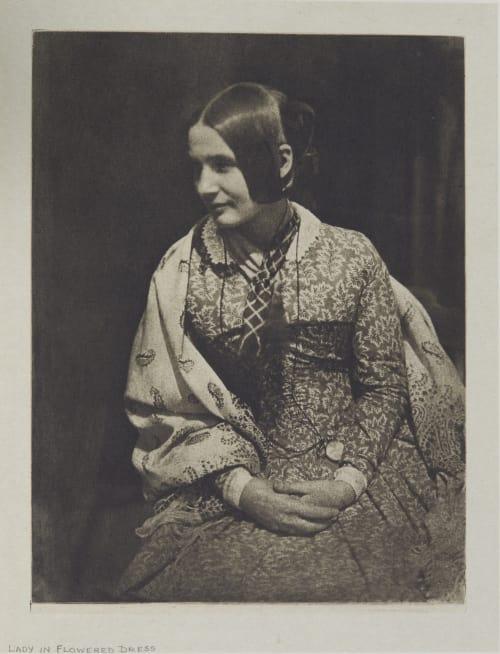 Lady in Flowered Dress Hill, David Octavious  (Scottish, 1802-1870)Adamson, Robert  (Scottish, 1821-1848)