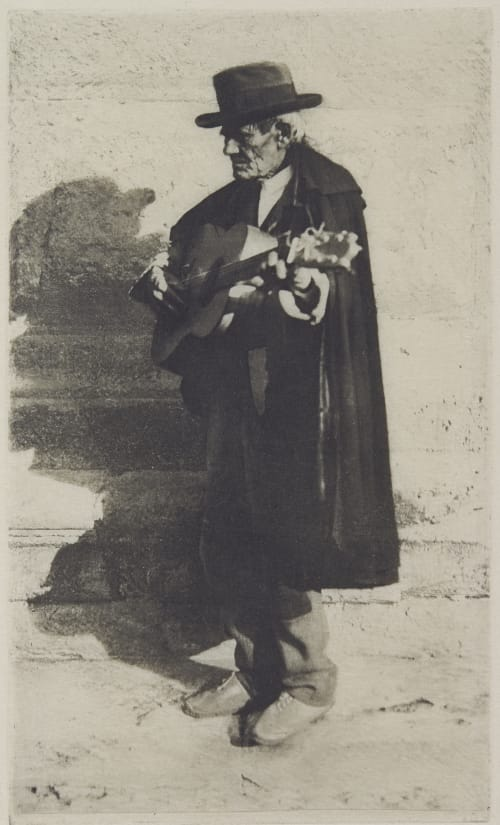 Blind Musician, Grananda Annan, James Craig  (Scottish, 1864-1946)