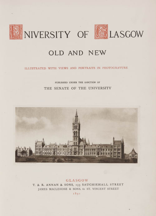 University of Glasgow Old and New Annan, Thomas  (Scottish, 1829-1887)