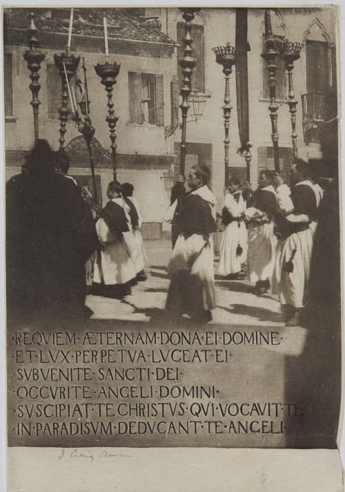 A Venetian Requiem Annan, James Craig  (Scottish, 1864-1946)