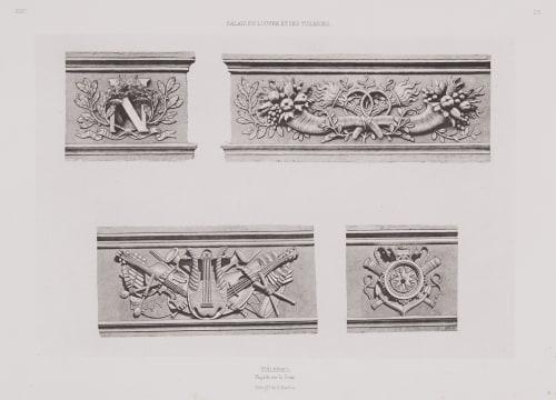 pl 23 Tuileries, Façade Sur La Cour Baldus, Edouard  (French, 1813-1889)