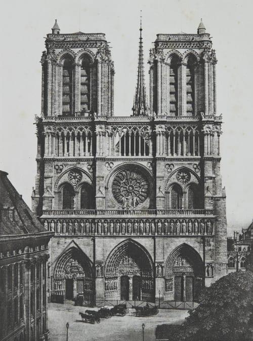 Notre-Dame, Façade Principale Baldus, Edouard  (French, 1813-1889)