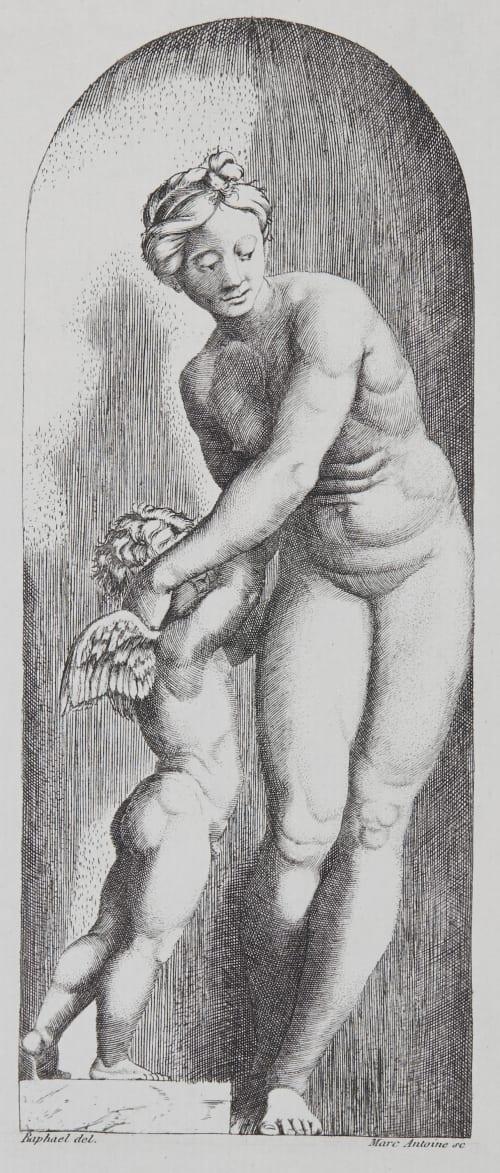 Vénus e l'Amour d'apres Raphael Baldus, Edouard  (French, 1813-1889)