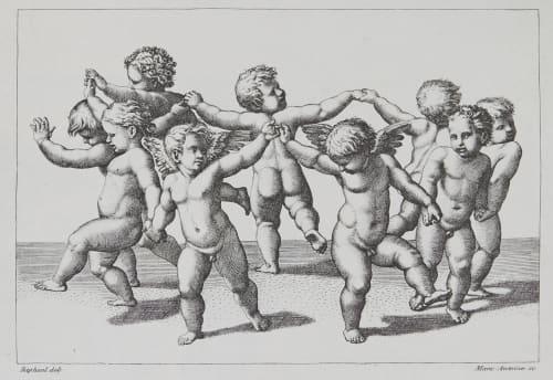 La Danse D'Amors d'apres Raphael Baldus, Edouard  (French, 1813-1889)