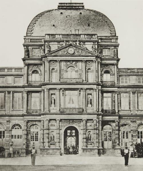 Ext. 100 Tuileries: Avant l'incendie par la Commune. Baldus, Edouard  (French, 1813-1889)