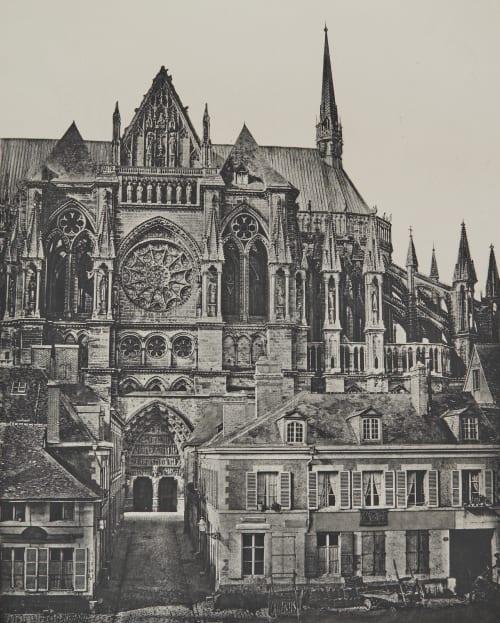 Catédrale de Reims (Facade latérale) Baldus, Edouard  (French, 1813-1889)