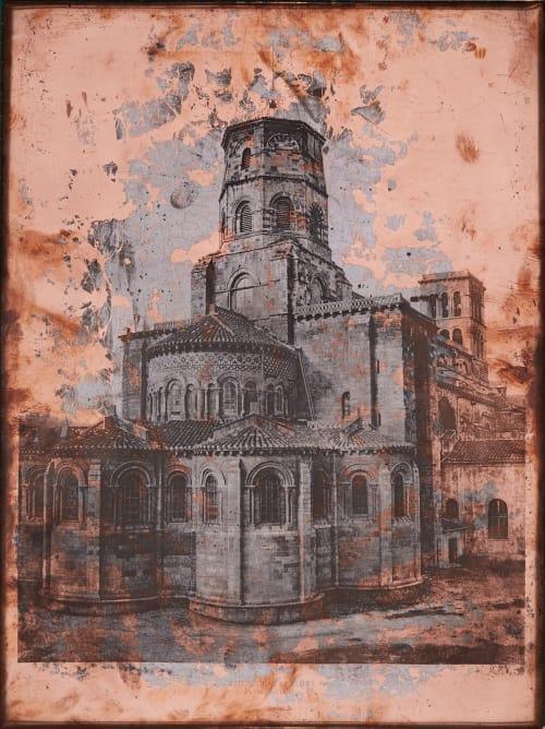 Eglise Saint Julien (de Brioude) Baldus, Edouard  (French, 1813-1889)