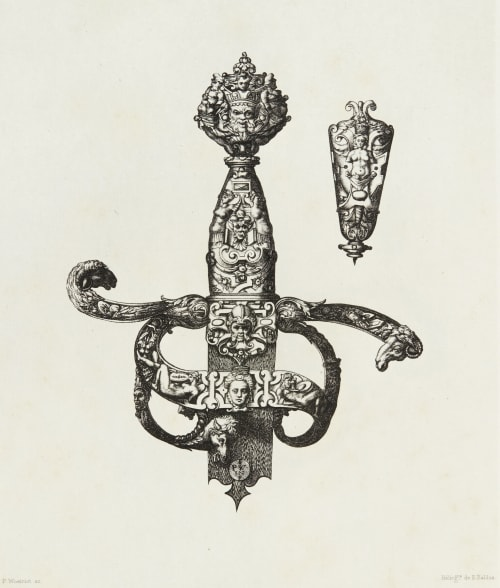 Design for a Sword Handle by P. Woeiriot Baldus, Edouard  (French, 1813-1889)