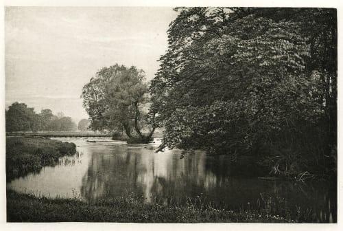 Plate XXXII Crow-Island Stream, River Wye Bankart, George  (British, 1829-1916)