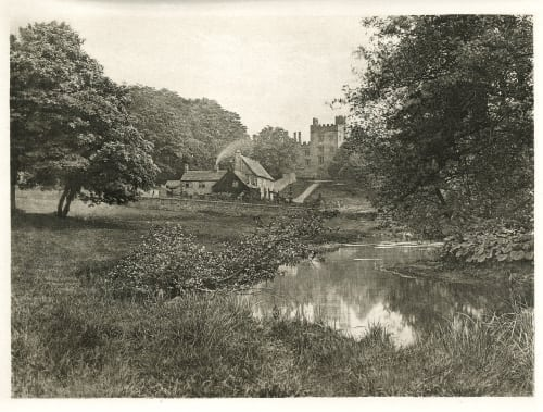 Plate XXXIV Haddon Hall and Homstead, From the River Bankart, George  (British, 1829-1916)