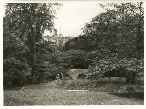 Plate XXXV Lady Dorothy's Bridge, Haddon Hall Bankart, George  (British, 1829-1916)